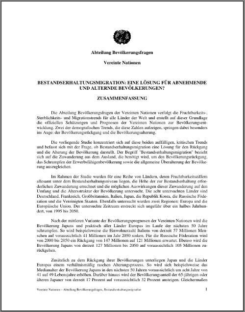 Bestandserhaltungsmigration-UNO